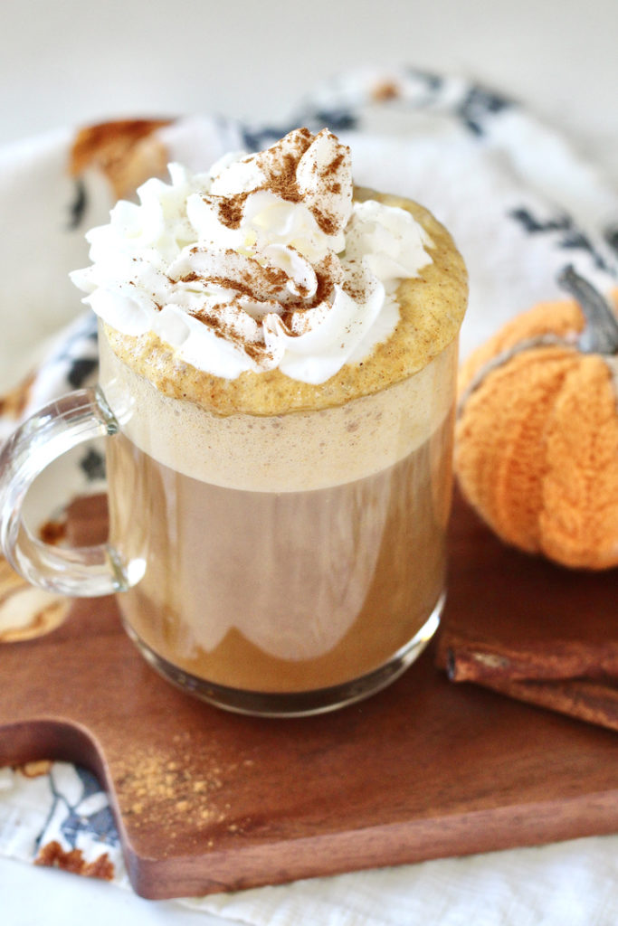 healthy pumpkin spice latte with whipped cream
