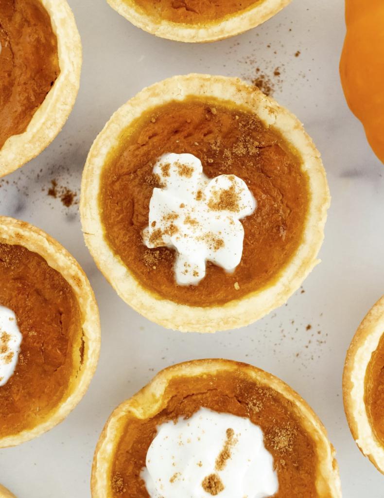 mini pumpkin pie low carb pumpkin recipes